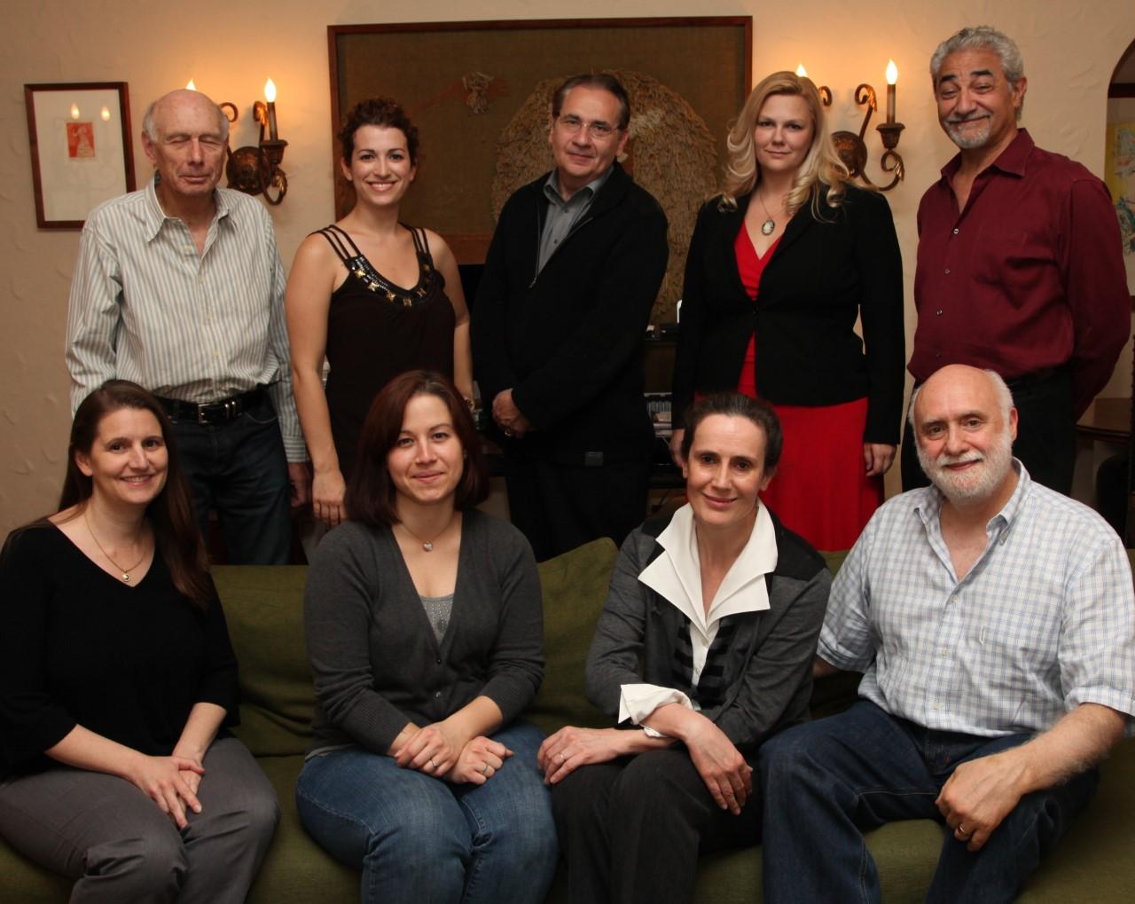 L'équipe de l'institut avec Chantal Desmoulins et Alain Amouyal au premier rang à droite
